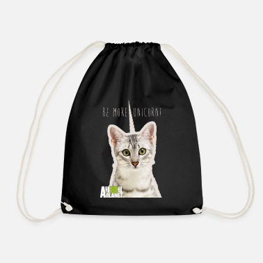Cat Animal Planet Humour Pets Cats Cute Unicorn - Drawstring Bag