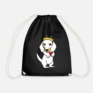 Purebred Dog King Dachshund Purebred Dog Pets - Drawstring Bag