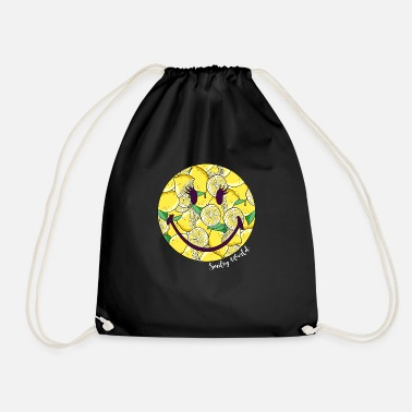 World Smiley World Funny Lemon Pattern - Drawstring Bag
