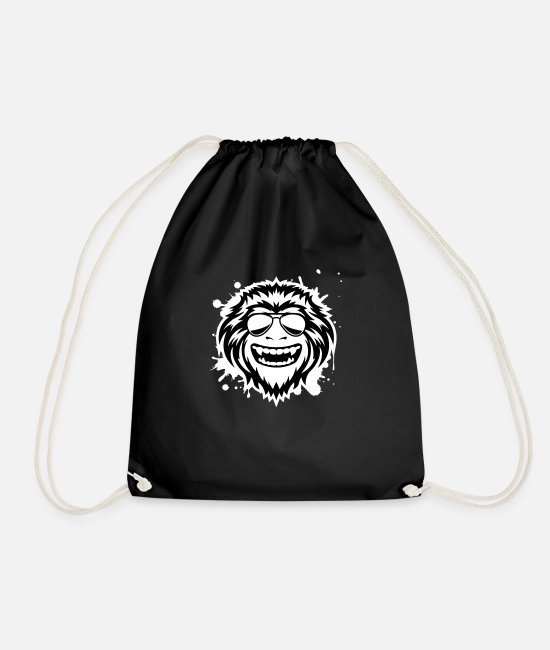 Monkey Bags & Backpacks - Wild Ape Grunge - Drawstring Bag black