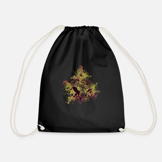 Love Bags & Backpacks - Desidero Incensus (Colour Splash) 05 - Drawstring Bag black
