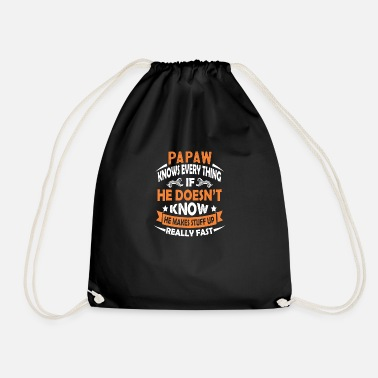 Papaw Knows Everything Christmas Papaw Gift - Drawstring Bag