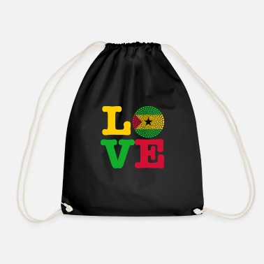 Sao Tome And Principe SAO TOME PRINCIPE HEART - Drawstring Bag