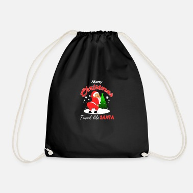 Twerk Twerking Santa - Drawstring Bag