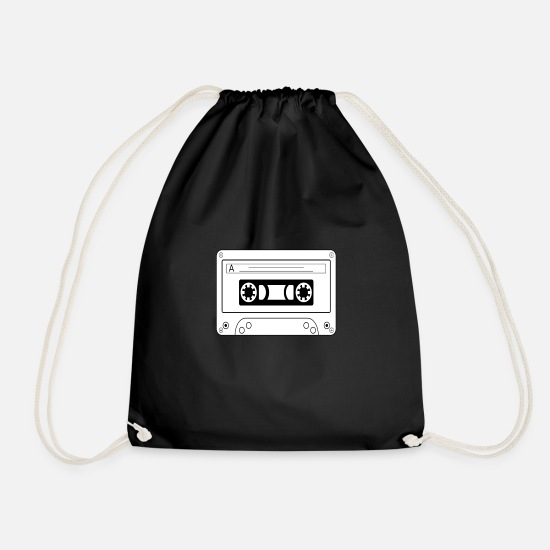 Rap Bags & Backpacks - TAPE MC white - Drawstring Bag black