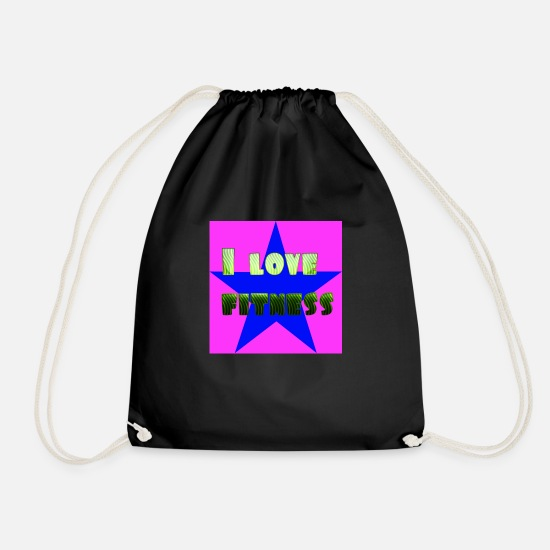 Love Bags & Backpacks - I love fitness 2 - Drawstring Bag black