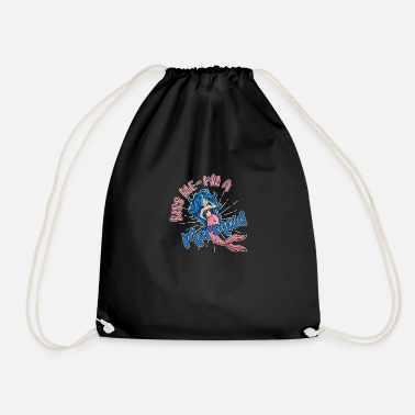 Kiss Me I'm a Mermaid - Drawstring Bag
