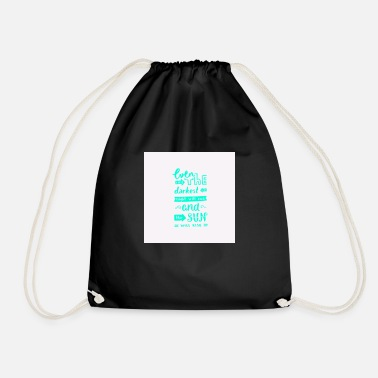 saying - Drawstring Bag