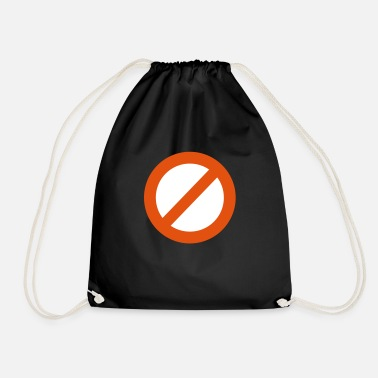 Prohibitory Sign Ban sign - Drawstring Bag