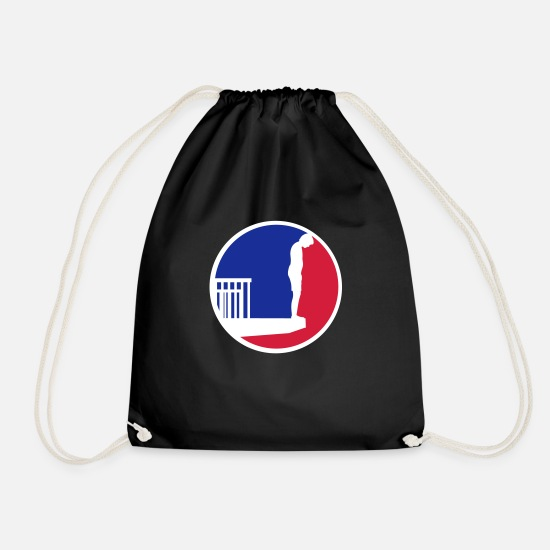 Aquatics Bags & Backpacks - Logo swimming pool diving tower - Drawstring Bag black