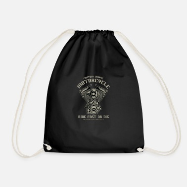 Motorcycle Custom Engine Ride Fast or Die - Drawstring Bag