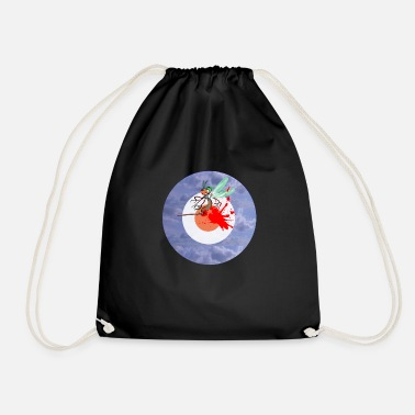 East Hit target clouds sky blue blood arrow - Drawstring Bag