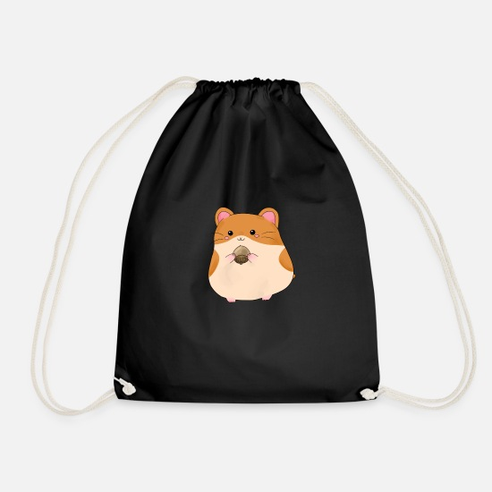 Pet Bags & Backpacks - hamster - Drawstring Bag black