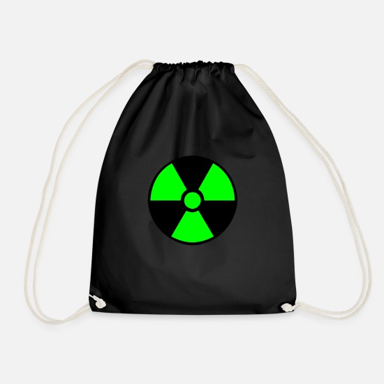 Symbol  Bags & Backpacks - Radiation Symbol - Drawstring Bag black