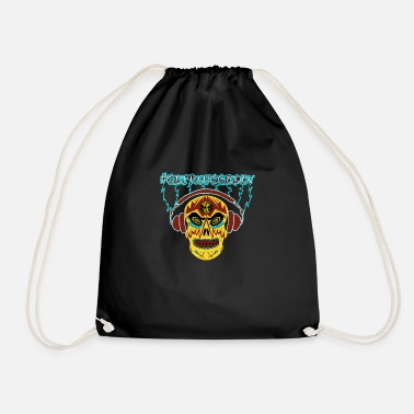 #GetPluggedIn Day of the Dead tee - Drawstring Bag