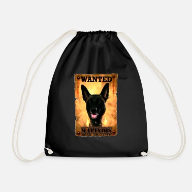 malinois wanted - Drawstring Bag