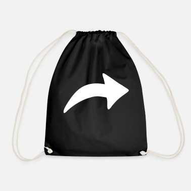 Thick Arrow thick - Drawstring Bag