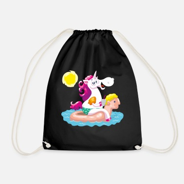 Unicorn water animal inflatable - Drawstring Bag