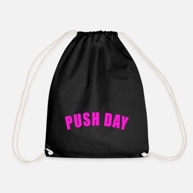 Douleur PUSH DAY GIFT FITNESS GYM TRAINING PULL LEGS - Sac à dos cordon