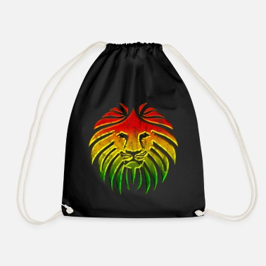 Rasta LIKE A LION, Reggae Music Löwe, Rasta Revolution, - Turnbeutel