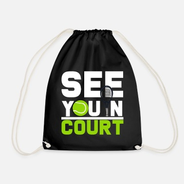 Court tennis court - Drawstring Bag