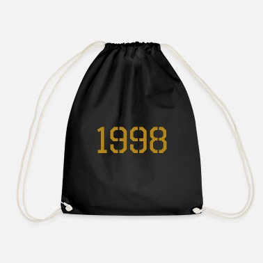Production Year 1998 year of production gold - Drawstring Bag