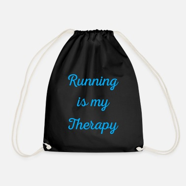 Renner Running is my therapy saying gift - Drawstring Bag