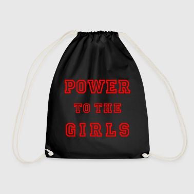 Power to the girls RED Girl Power Girl Power - Drawstring Bag