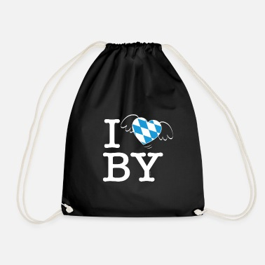 Bewinged I LOVE BAVARIA winged heart gift idea - Drawstring Bag