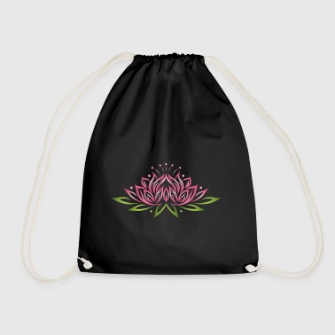 Large lotus flower with colorful effects.  - Drawstring Bag