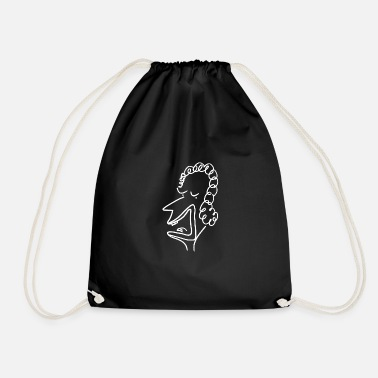 School Diana 224 head - pure head - white - Drawstring Bag