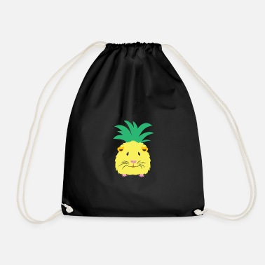 Yellow pineapple guinea pig - Drawstring Bag
