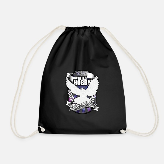 Pigeon Bags & Backpacks - Pigeon pigeon TShirt gift - Drawstring Bag black