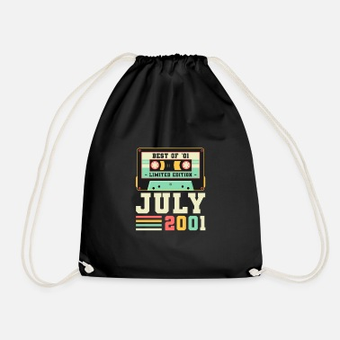Motto 20th Birthday Gift July 2001 20 Years - Drawstring Bag