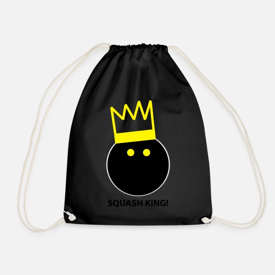 Squash Bags & Backpacks - Squash King - Drawstring Bag black
