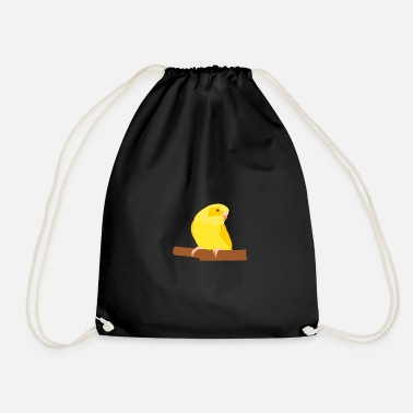Budgie Yellow Budgie - Drawstring Bag