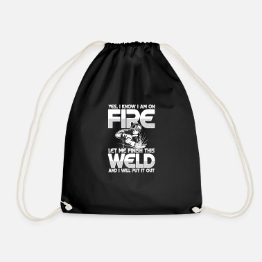 Oxyacetylene Welding Let me finish this weld - Drawstring Bag