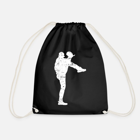 Sports Bags & Backpacks - Baseball pitcher - Drawstring Bag black