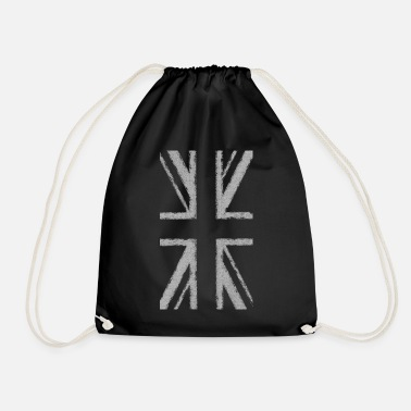 Uk Vertical Union Jack (Faded) - Drawstring Bag