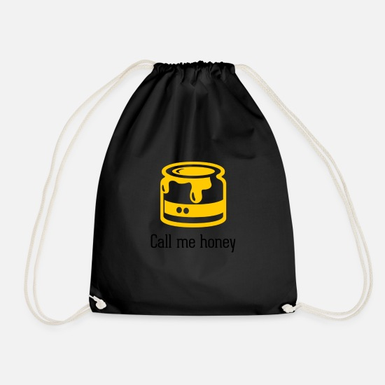 Honey Bags & Backpacks - Honey - Drawstring Bag black