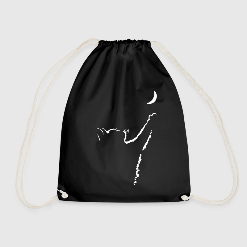 cat moon - Drawstring Bag