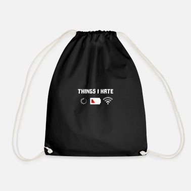 Pardon Think I fully hate - Drawstring Bag