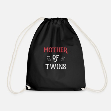 Mothers Day Mother of Twins mother day - Drawstring Bag