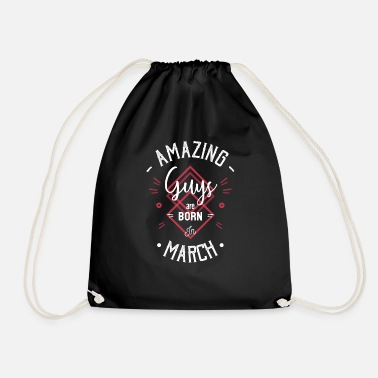 Piscean Amazing guys are born in march - Drawstring Bag