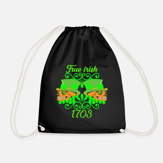Gift Idea Bags & Backpacks - TRUE IRISH Ireland Gift - Drawstring Bag black