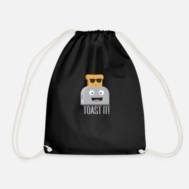 Toaster with bread - Drawstring Bag