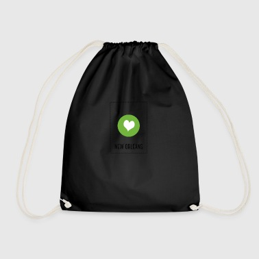 I Love New Orleans - Drawstring Bag