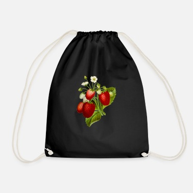 Illustration Strawberries Illustration - Drawstring Bag