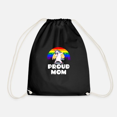Proud Mom - Gay Pride Unicorn LGBT Flag - Gymnastikpåse