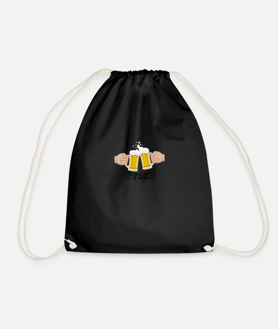 Wine Bags & Backpacks - beer beer cheers - Drawstring Bag black